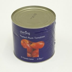 Case Plum Tomatoes 6 x 2.55kg Sterling
