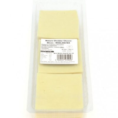 Mature Cheddar sliced cheese x1kg