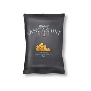 Lancashire Crisps - Black Pepper & Sea Salt 24 x 40g