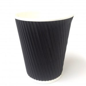 12oz Black Ripple Wall Cup x 500