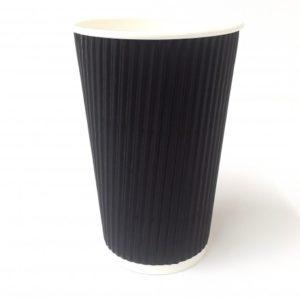 16oz Black Ripple Wall Cup x 500