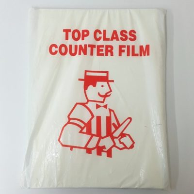 Large Clear Counter Film x 1.8kg (1000 sheets)