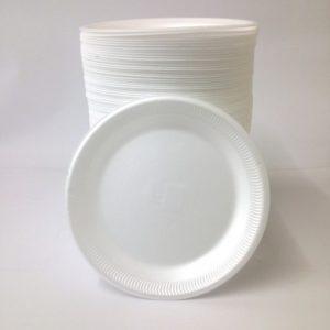 "7 Polystyrene Plates x 100"""