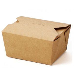 Medium Compostable Hot Food Box x 300
