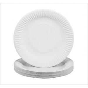"Small white paper plates (7) x 100"""